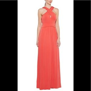 Halston Heritage Poppy colored gown NWT